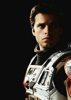 Promotional images of Sebastian Stan as Dr. Chris Beck in The Martian.