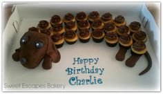 Wiener Dog Cupcake cake | Flickr - Photo Sharing!