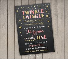 Twinkle Twinkle Little Star Birthday by LittleApplesDesign on Etsy