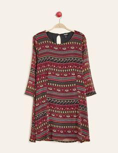 robe trapèze imprimé  bordeaux - http://www.jennyfer.com/fr-fr/vetements/robes/robe-trapeze-imprime--bordeaux-10010579060.html