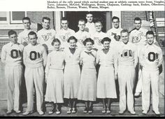 The 1936-37 UO Rally Committee (cheerleaders).  From the 1937 Oregana (University of Oregon yearbook).  www.CampusAttic.com