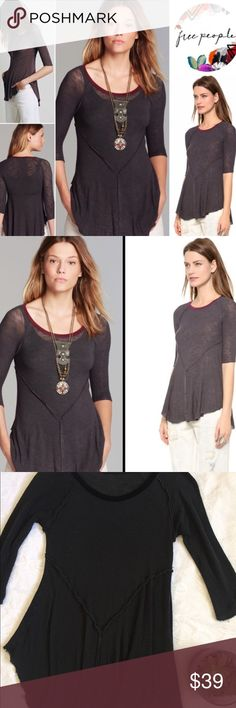 Free People tunic Charcoal grey swing tunic by Free People. Comfortable but versatile. Color is perfect for layering and matching anything! Free People Tops