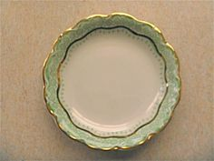 Johnson-Bros-BUTTER-PATS-pat-6-England-RUTH-green-floral-gold-trim-FREE-SHIP Johnson Bros, China Dinnerware, Dining Room, Butter, England, Ship, Tableware, Floral, Green