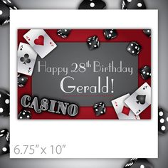 Casino Party Sign  PRINTABLE  Gamble Love by BlackCherryPrintable, $7.00