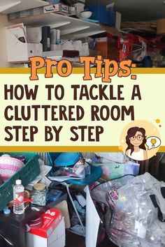 How To Tackle a Cluttered Messy Room Step By Step - ready to declutter and organize and FINALLY get organized at home? Here's how to control your clutter in ANY messy cluttered room step by step (easy 15 minute decluttering system) Cleaning Checklist, House Cleaning Tips, Cleaning Hacks, Cleaning Schedules, Clutter Organization, Organizing Ideas, Organisation Ideas, Household Organization, Getting Organized At Home