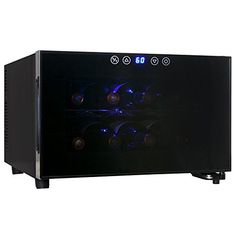 AKDY 8 Bottle Single Zone Thermoelectric Counter Top Freestanding Wine Cooler Cellar Chiller Refrigerator Fridge Quiet Operation >>> Click on the image for additional details.