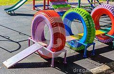 Recycling Playground Stock Photo