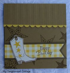 Gift Card Holder - Bootiful Occasions, Stampin' Up! @ My Tanglewood Cottage