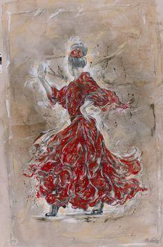 Red Flamenco Dancer - Marta Wiley