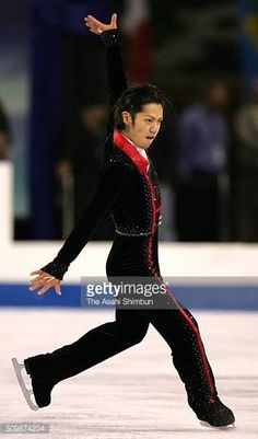 Daisuke Takahashi of Japan competes in the Men's Singles Short Program during day one of the Skate America at the Boardwalk Hall on October 20 2005...