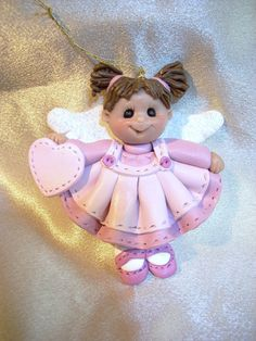 polymer clay angel angelic toddler child personalized by clayqts