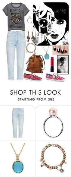 """""""Look Urbano Fresco - Cómodo"""" by evangelinacampos ❤ liked on Polyvore featuring M.i.h Jeans, Trollbeads, Effy Jewelry and MAC Cosmetics"""