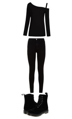 """black"" by melaniec343 on Polyvore featuring 7 For All Mankind and Dr. Martens"