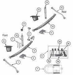 tj suspension diagram enthusiast wiring diagrams u2022 rh rasalibre co Jeep Wrangler Steering Diagram 2000 Jeep Wrangler Suspension Diagram