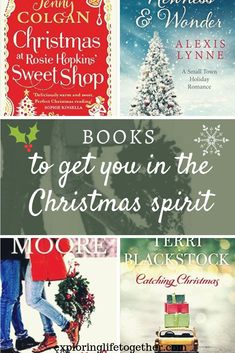 Great books to get you in the holiday spirit. Exploring life Together. Easy reads for Christmas. Best Christmas Books, Simple Christmas, Christmas Holidays, Cozy Christmas, Book Club Books, My Books, Reading Books, Book Clubs, Book Lists
