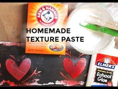 Homemade Gesso and Texture Paste - YouTube