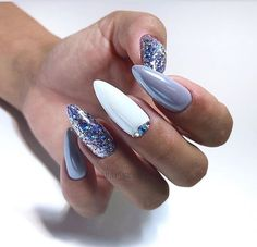 purple and white Acrylic short oval nails design for summer nails, Cute natural . purple and white Acrylic short oval nails design for summer nails, Cute natural oval nails for spring nails, Gel oval nails design acrylic Best Acrylic Nails, Acrylic Nail Designs, Winter Nails, Spring Nails, Short Oval Nails, Nagel Hacks, Nagellack Trends, Nails 2018, Super Nails