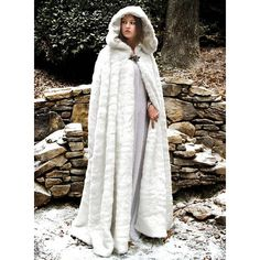 White Cloak, White Cape, Mantel Trenchcoat, Gothic Mode, Hooded Cloak, Fur Cape, Medieval Costume, Medieval Cloak, Capes For Women