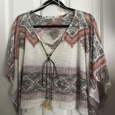Forever 21 shirt size small. Festival style Forever 21 shirt in size small. Festival style. Small snags on front that can be cut off Forever 21 Tops Tunics