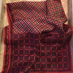 Vintage 80's Scarf Vintage 80's scarf. Brown, orange and cream pattern. Excellent condition. Vintage Accessories Scarves & Wraps