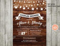 Couples or Coed Bridal Shower Printable Invitation-I Do BBQ, Chalkboard, Mason Jar, Wedding Couples invitation couples party by ABCSongShop on Etsy