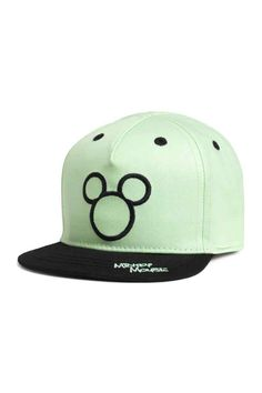 Cotton cap with a motif - Mint green/Mickey Mouse - Kids | H&M GB 1