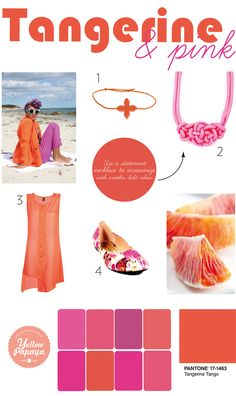 Tangerine & Pink Mood Board