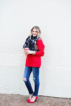 My favorite outfit for the season and many of these pieces are on major sale right now! Get the details on http://ablissfulnest.com/
