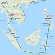An ideal Grand Itinerary for our upcoming backpacking trip across Southeast Asia. Including trips to Thailand, Laos, Myanmar, Cambodia, Vietnam, Philippines, Singapore, and Indonesia.