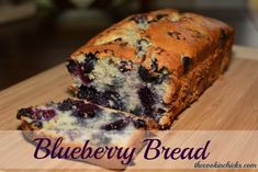 This flavorful quick bread is bursting with juicy blueberries and makes a tasty breakfast, snack, or even evening treat! Freeze for later or enjoy fresh! Make Banana Bread, Blueberry Bread, Blueberry Recipes, Quick Bread Recipes, Cooking Recipes, Yummy Recipes, Sweet Recipes, Dessert Bread, Dessert Recipes