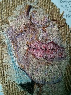Emily Tull Textile Design, Textile Art, Portrait Embroidery, Art And Craft Design, Thread Painting, Fiber Art, Stitches, Cool Art, Identity