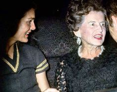 Jackie Onassis and Rose Kennedy.