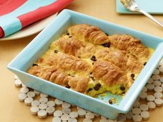 Ina Garten's Croissant Bread Pudding - #Thanksgiving #ThanksgivingFeast #Dessert