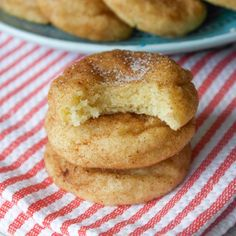 Snickerdoodle cookies are always a crowd favorite! This recipe makes soft and thick Snickerdoodles brimming cinnamon.