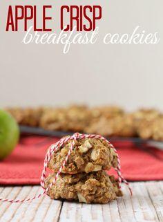 Apple Crisp Breakfast Cookies