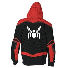 Spider-Man: Far From Home Hoodie Spiderman Peter Park Zip Up Sweatshirt Unisex Movie: Spider-Man: Far From Home Character: Peter Park Material: Polyester Including: Hoodie Size chart: Marvel Hoodies, Zip Up Hoodies, Cool Hoodies, Mens Sweatshirts, Superhero Costumes For Men, Super Hero Costumes, Cosplay Costumes, Zip Ups, Casual