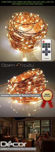 Starry String Light, Copper wire string light 66ft Long, Ultra thin and flexible with 200 warm white LEDs, Improved Remote, Waterproof, Suitable for Xmas Décor and for any other occasions. #parts #products #camera #drone #technology #racing #plans #fpv #shopping #gadgets #tech #kit #storage #yarn