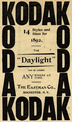 Kodak, 1892