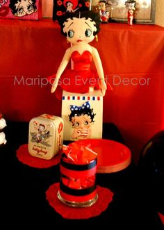 Betty Boop makes an appearance at Bday Dinner | CatchMyParty.com