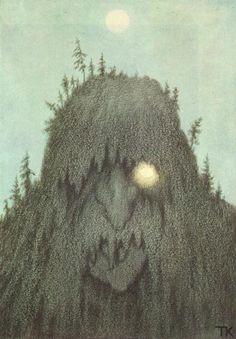 Theodor Kittelsen - Skogtroll, 1906 (Forest Troll) - Theodor Kittelsen - Wikipedia, the free encyclopedia