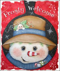 Frosty Welcome ePacket Christmas Coasters, Christmas Snowman, Snowman Faces, Snowmen, Welcome Gif, Printable Designs, Paint Shop, Learn To Paint, Painting Patterns
