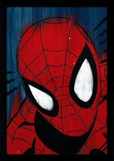 Hand painted Spiderman stencils - visit to grab an unforgettable cool Super Hero T-Shirt Spiderman Stencil, Spiderman Art, Marvel Drawings, Art Drawings, Hero Marvel, Marvel Paintings, Stoff Design, Spray Paint Art, Arte Pop