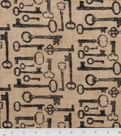 I love this printed burlap fabric from JoAnn's Fabrics! Available in stores & online!  Maybe I should make some curtains out of it :)