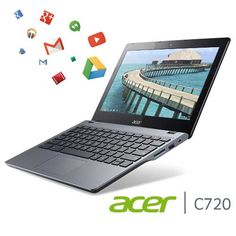 Acer C720 Chromebook (11.6-Inch, Haswell micro-architecture, 4GB)  Intel Celeron 2955U 1.4 GHz (Haswell micro-architecture) 4 GB DDR3L SDRAM 16 GB Solid-State Drive 11.6-Inch Anti-Glare Screen, Intel HD Graphics HDMI port, 8.5-hour battery life