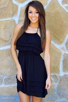 She's So Cool Dress: Pitch Black | Hope's #shophopes