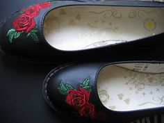 Dr. Martens red roses shoes by NiaD, I Would Love to have a pair of these,,,They are so Me,,,,,