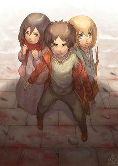 Eren, Mikasa and Armin Despair by Ry-Spirit