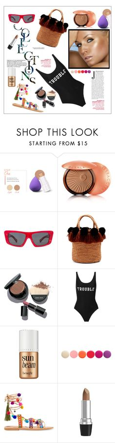 """Golden glow without the sun"" by frenchfriesblackmg ❤ liked on Polyvore featuring beauty, BHCosmetics, Guerlain, Oliver Peoples, Sensi Studio, Giorgio Armani, ADRIANA DEGREAS, Benefit, Deborah Lippmann and Mabu"