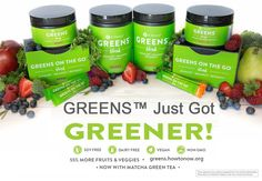 Greens is a powder drink mix! It has 52 superfoods, 34 fruits & veggies added matcha green tea and it's allergen-free, soy-free, non-GMO, dairy/lactose-free, and Vegan!Gives you energy and detoxes to balance your  body! #itworks #greens #healthy #betterbody