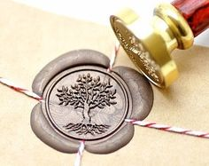 B20 Wax Seal Stamp Tree of Life Roots
